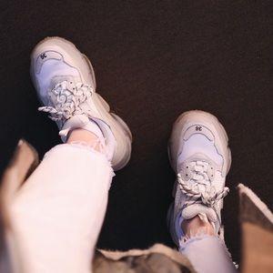 Balenciaga Triple S White Sneakers